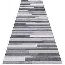 FSCLJ Tapis Cuisine Tapis de Couloir Gris Extra Long Tapis d'escalier 1m 1,5m 2m 2,5m 3m 3,5m 4m 4,5m 5m 5,5m 6m