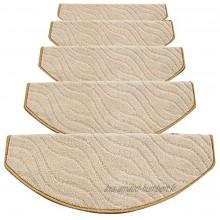 Suytan Tapis D'Escalier Bandes de Roulement Tapis D'Escalier Bandes de Roulement Tapis Étape Tapis Escaliers Tapis Semicirculol Auto Adhésif Non-Slip 5 Tailles 4 Couleurs Tapis D'Escalier B 1Pcs 65X2