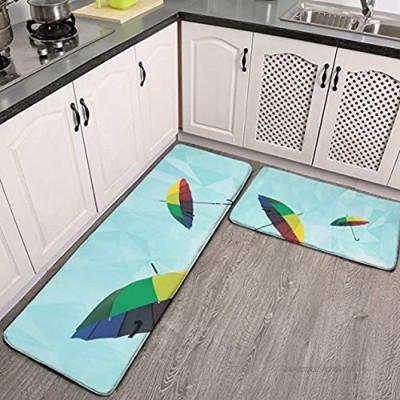 Lot de 2 tapis de cuisine lavables antidérapants pour intérieur ou extérieur marque Ashkenazi