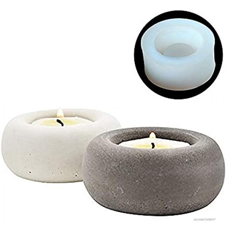Nicole Silicone Mold Concrete Candlestick Mould Ciment Bougeoir Maison Artisanat Décoration Outil