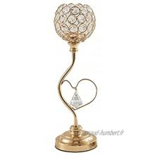 TYEHH Crystal Bougeoir Centrale de mariée Chandel Chandelet Home Chandelier Color : Golden