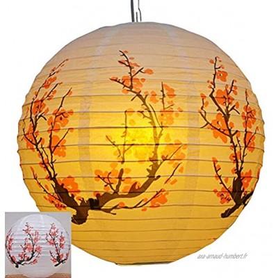 Jingyun Lanterne Suspendue de Style Chinois décoration de Sushi Abat-Jour Suspendu en Papier Abat-Jour en Papier 40CM E04