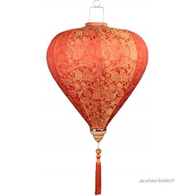 """Lanterne en Tissu Peint Chinois Traditionnel Lanterne Suspendue décor Abat-Jour pour Le Jardin 14"""""""