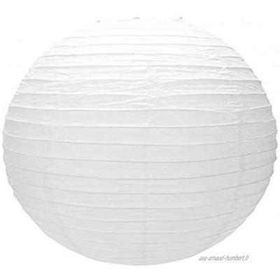 SovelyBoFan 1 X Abat-Jour De Lanterne en Papier Japonais Chinois pour Mariage De FêTe,50cm 20 Pouces Blanc CrèMe