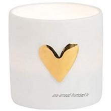 Räder Lot de 2 cœurs Lumineux dorés