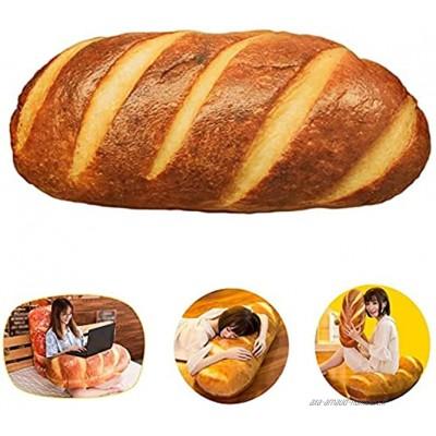 boogift 60 cm Coussin Baguette en peluche douce et mignonne Coussin décoratif décoratif amusant Cadeau Beurre Bread pour canapé coussin de dossier décoration de maison