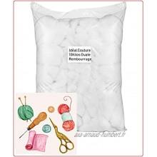 Idéal couture Garnissage de Microfibre 10 kg – Rembourrage pour Peluche oreillers Poignet Coussins Amigurumi Carton de 10 Kilos