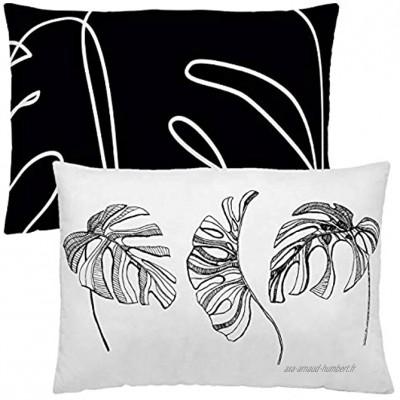 NATURALS Blanca Housse de Coussin sans garnissage 50 x 30 cm