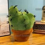 Oreiller Cactus Oreiller Mignon Oreiller de Bureau Oreiller en Peluche Cactus Poupée Cactus Peut être Utilisé comme Coussin pour Le Bureau Le Lit Le Canapé Le Siège D'auto 37cm 14.56in