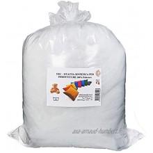 STEFANAZZI Rembourrage en ouate doux 300 g ouate floquée rembourrage coussins peluche 100 % polyester décorations en mousse pour coussins et pouf en tissu