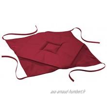 douceur d'intérieur Essentiel Galette 4 Rabats Polyester Bordeaux 36 x 36 x 3,5 cm