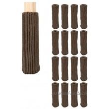Mogoko 16pcs Tricot Laine Meubles Chaussettes Coussins de Chaise Jambe Tapis Protecteur