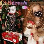 Generic 30PCS Visage Bandanas Anti-poussière pour Enfants Utilisation Unique,Conception à 3 Couches Motif Noël imprimé Tissu Confortable Visage Masque (Pack combiné) JIekyoi 1123