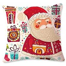 Runfon Noël Shop Shoge Coussine Home Home Coussin d'oreiller décoratif Santa Claus Motif Coussin Coussin Coussin de Coussin avec Fermeture à glissière cachée