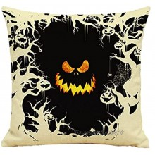 Yililay Halloween Coussin Coussin Linge Tampon Coussin Coussin Protecteur 45x45cm sans Insert Style 5 Fournitures Halloween