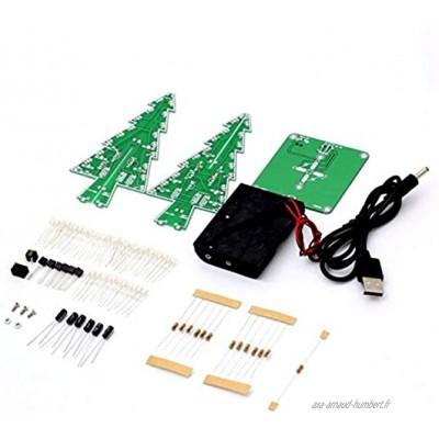 Zhou-YuXiang Décor électronique LED Flash Circuit Pièces Arbre de Noël 3D Arbre LED DIY Kit Matériel respectueux de l'environnement