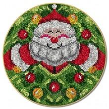 Kaxofang Kit de Crochet de Verrouillage Kits de Fil de Crochet Bricolage Tapis de PèRe NooL de 20,4 X 20,4 Pouces Faisant de L'Artisanat pour Les Enfants Adultes et DéButants