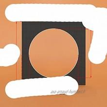 MHCTMTK Tapis Photo Blanc Noir Cercle Carré 8 10 12 14 16 Pouces Surface Texturée en Carton pour Cadres 12PCS Lot-Cercle Noir 10X10 Pouces